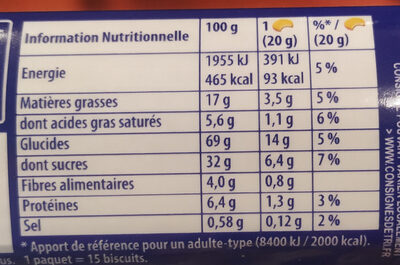 Prince - Informations nutritionnelles - fr