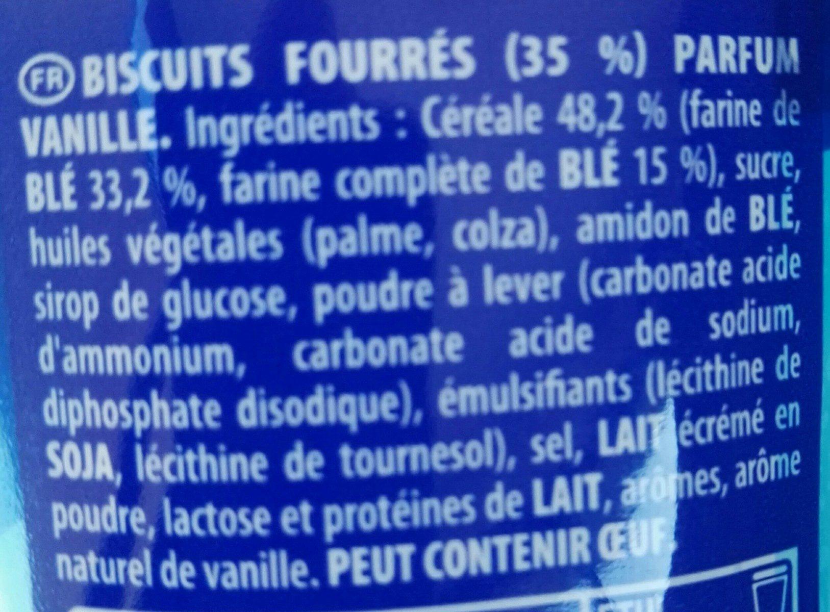 Prince Goût Vanille - Ingredients - fr