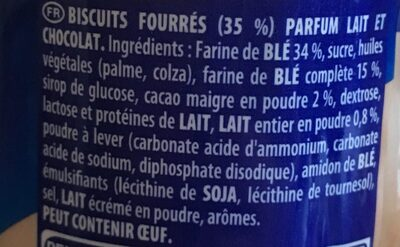 Prince goût Lait Choco - Ingredients