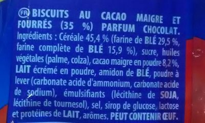 Prince goût tout choco - Ingredients
