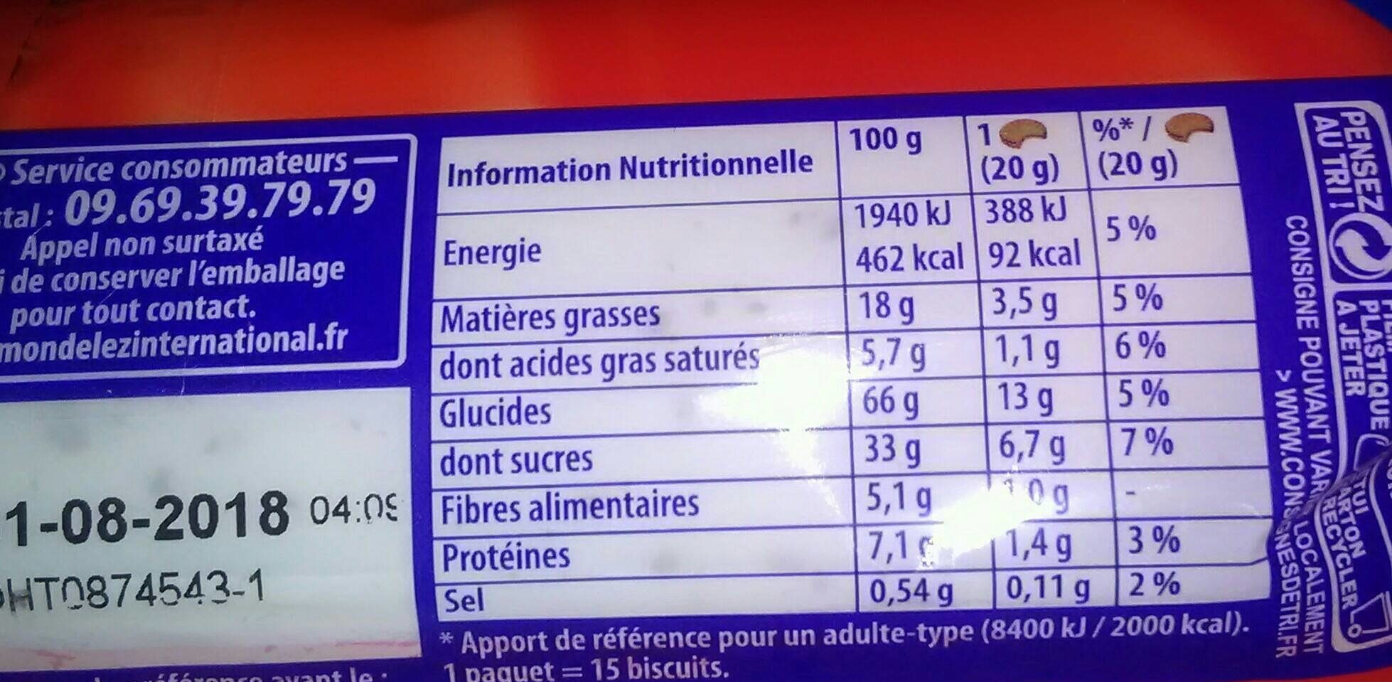Prince goût tout choco - Nutrition facts - fr