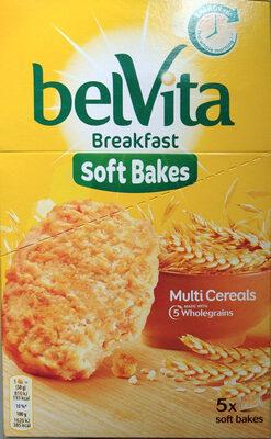 Bolacha de cereais enriquecida com ferro, magnesio, vitaminas B6 e B9. - Produto