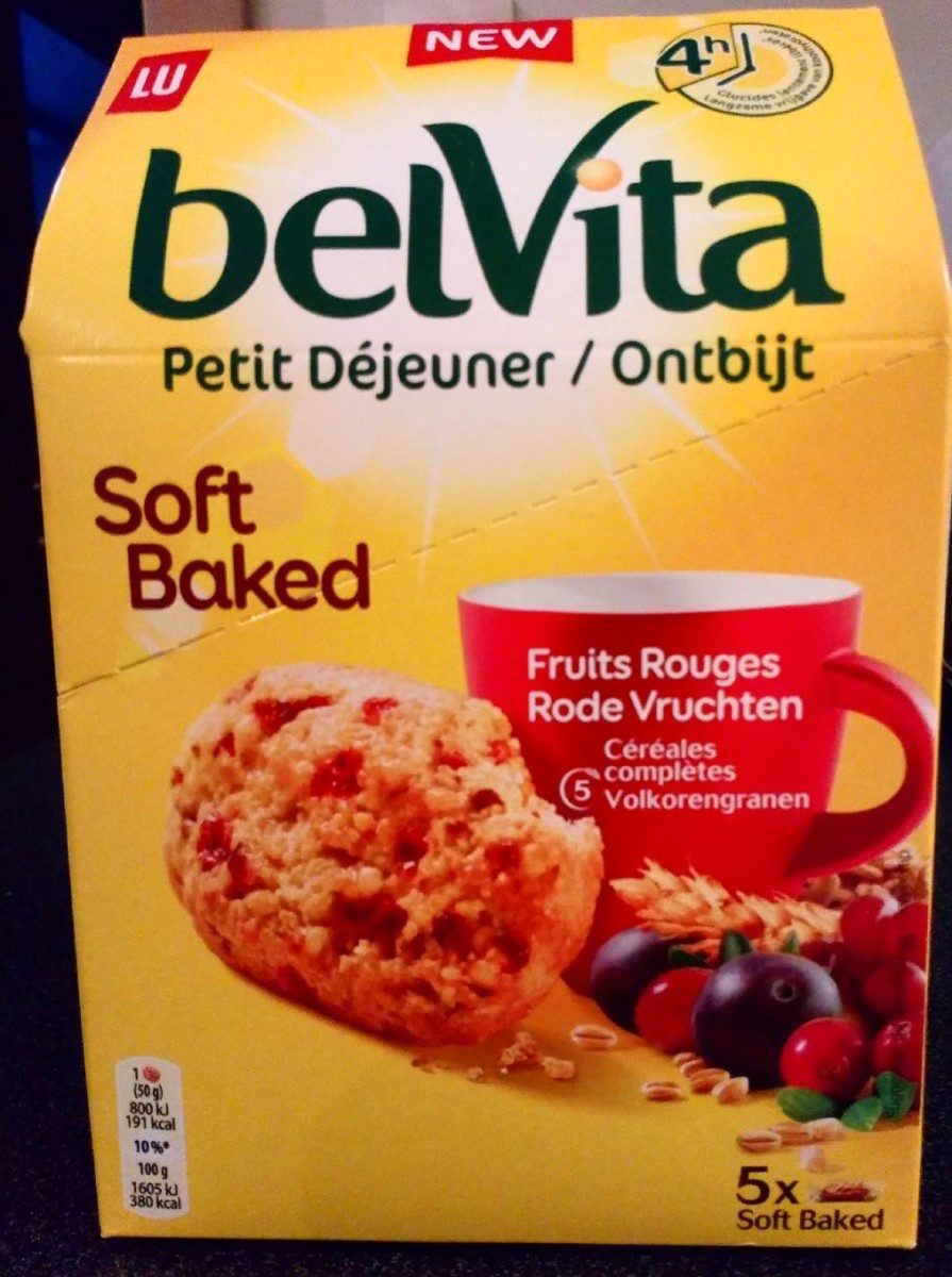 Belvita Soft Baked Fruits rouges - Produit