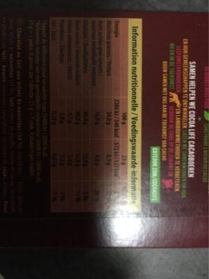 Côte D'or Paquets Lait Noisettes 18X200G - Voedingswaarden