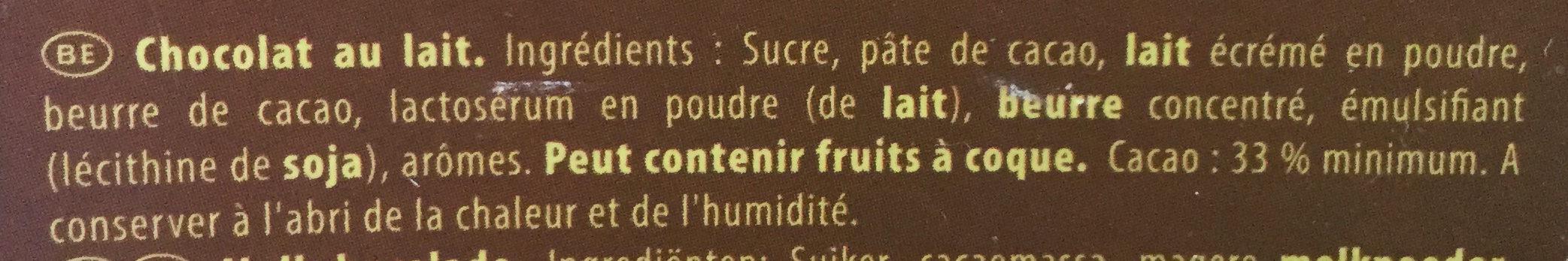 Chocolat au Lait - Ingredients - fr