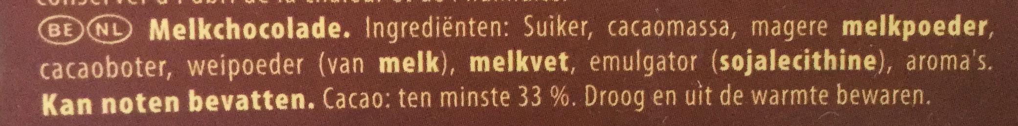 Chocolat au Lait - Ingrediënten - nl