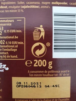 L'original - Chocolat au lait - Recyclinginstructies en / of verpakkingsinformatie - nl