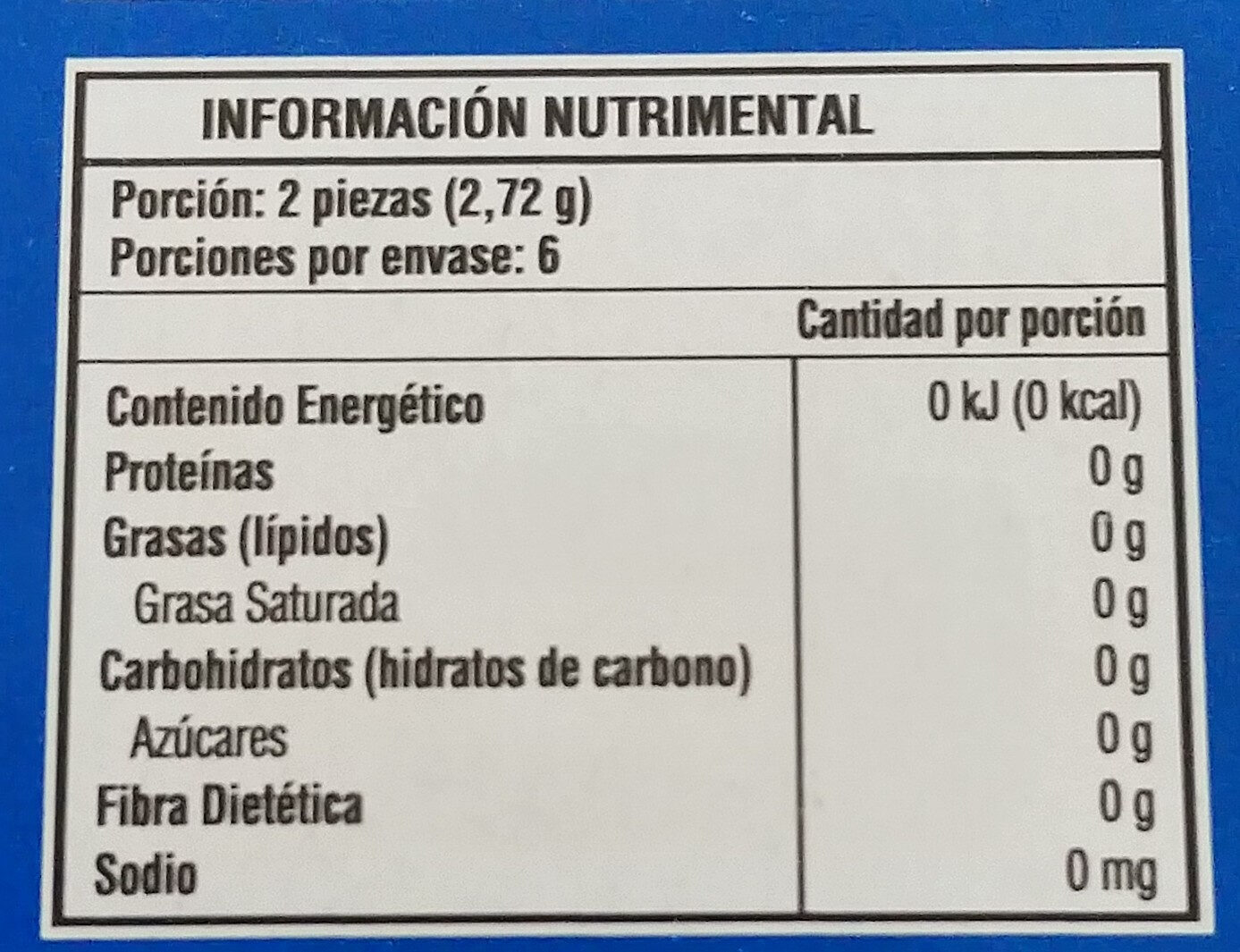 Trident Xtra care - Informations nutritionnelles