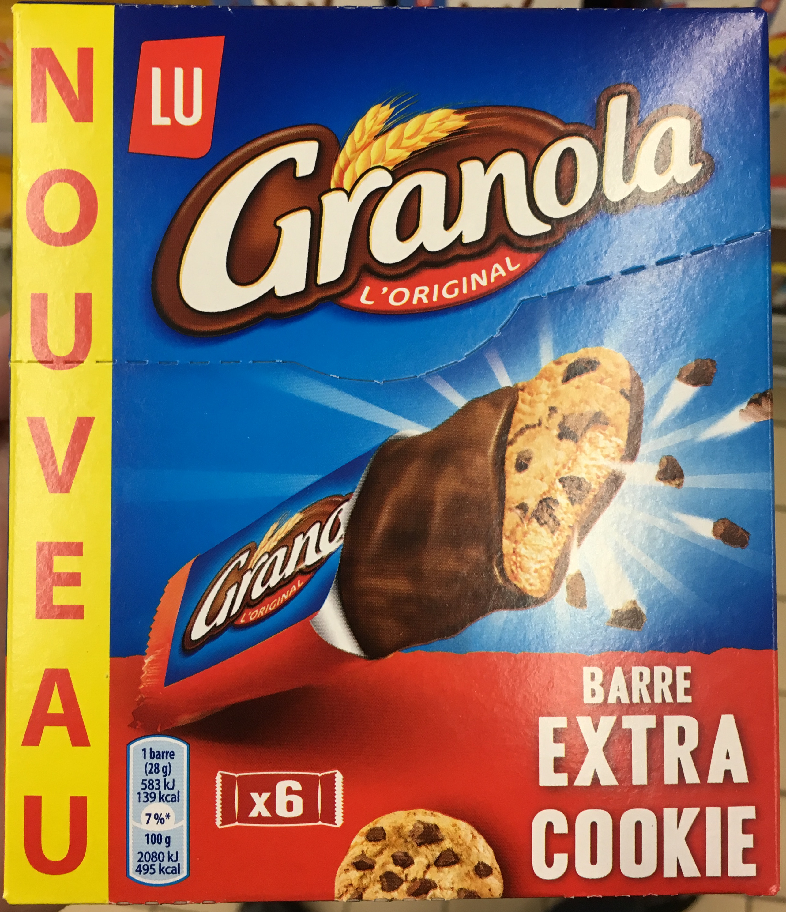 granola barre extra cookie lu 6 28 g. Black Bedroom Furniture Sets. Home Design Ideas
