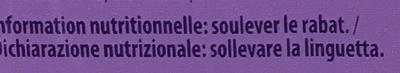 Melty Framboises, noisettes et pépites de chocolat - Informations nutritionnelles - fr