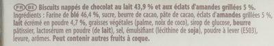 Mikado Chocolat au lait amandes grillées - Ingredientes