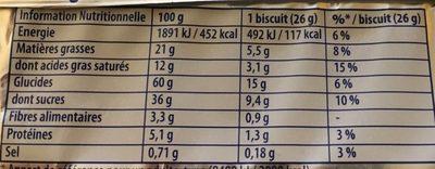 Granola Cœur Extra Moelleux Tout Chocolat - Nutrition facts - fr