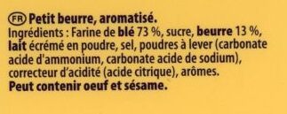Véritable petit beurre - Ingredients - fr