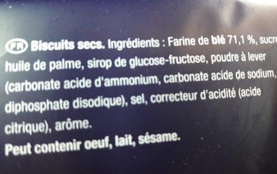 Petit brun extra - Ingrediënten