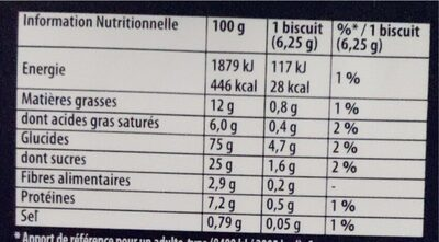 Petit brun extra - Nutrition facts - fr