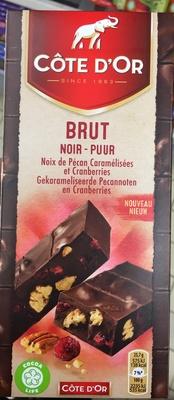 Brut Noir Noix de Pécan Caramélisées et Cranberries - Product