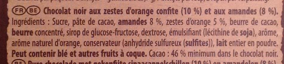 Brut noir - Ingrediënten