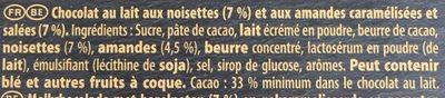 Brut Lait double noix - Ingredients