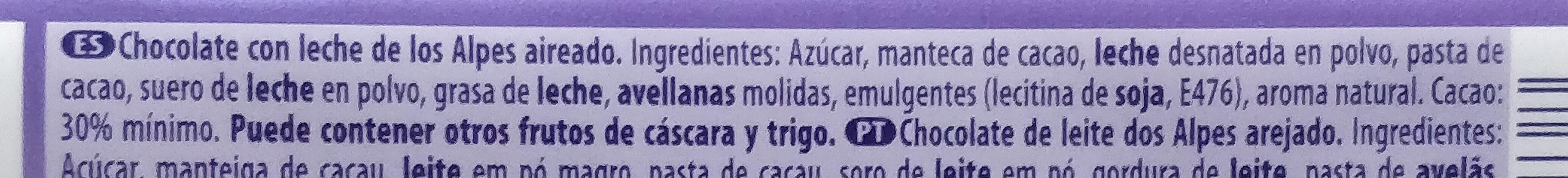 Bubbly - Ingrediënten