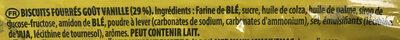 Oreo Golden - Ingrediënten - fr