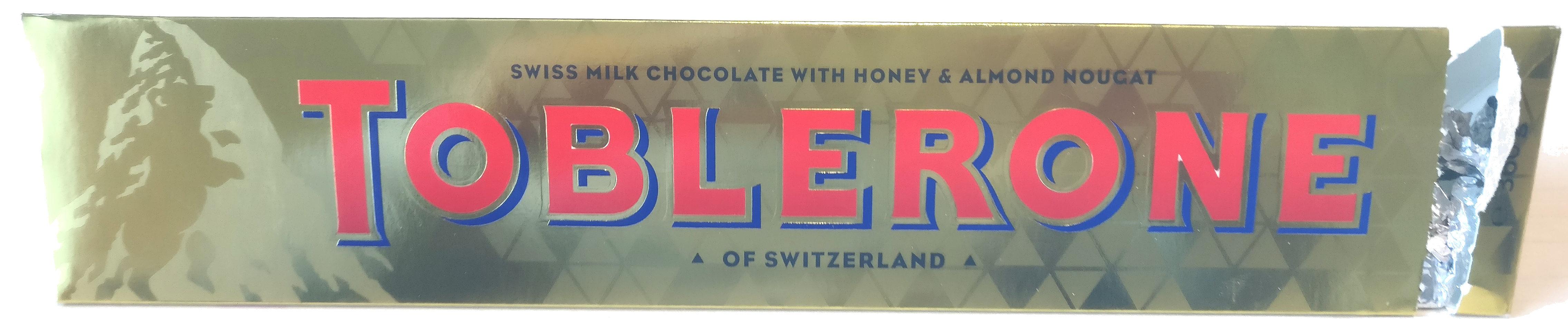 Toblerone - Producte