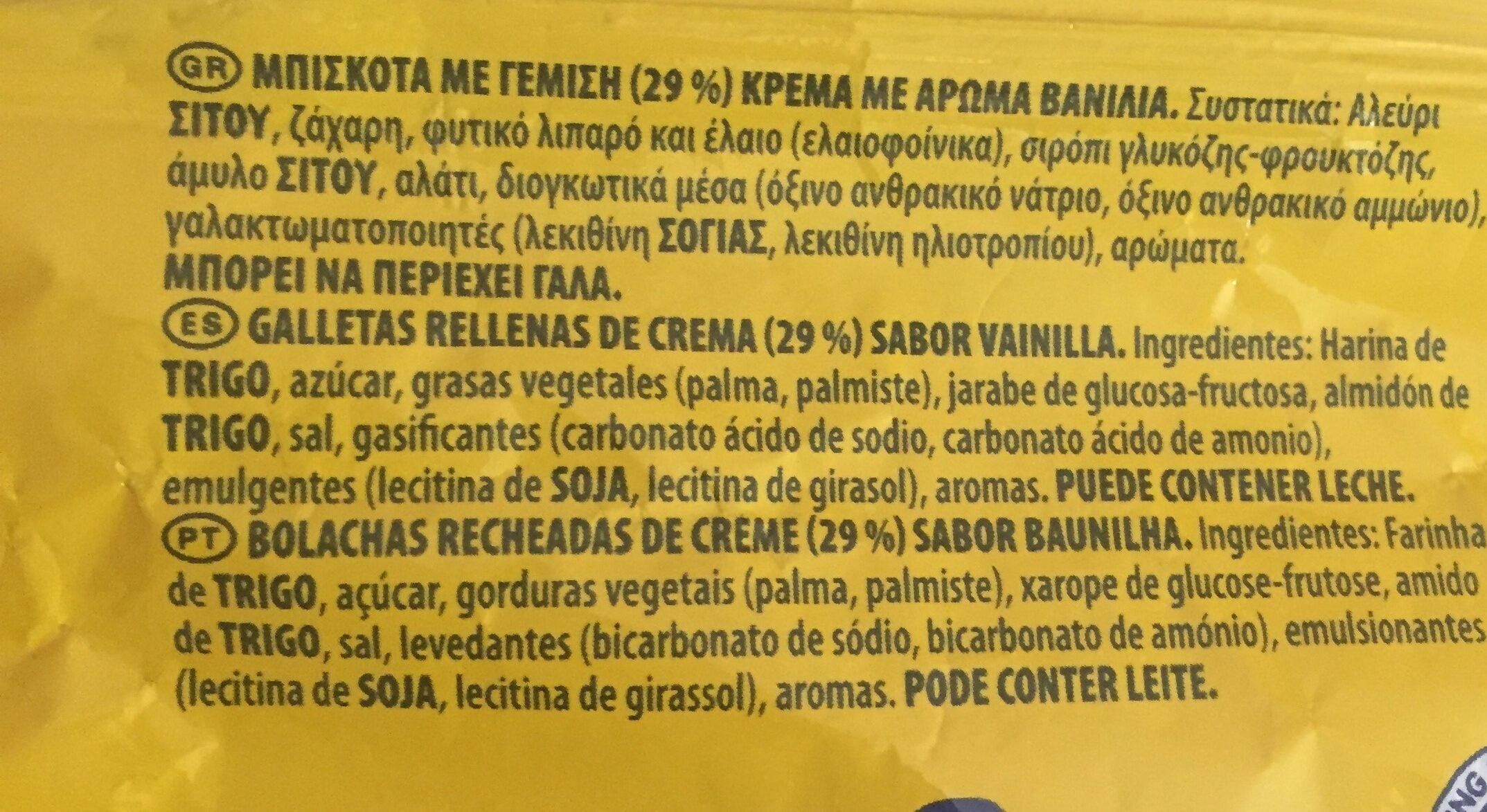 Oreo Chocolat Blanc - Ingredients