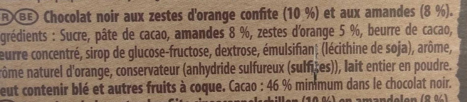 Brut Noir Amandes et Orange - Ingrediënten - fr