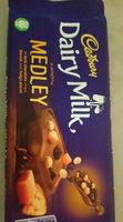 Cadbury Dairy Milk Medley Dark Choc Chip, Biscuit & Fudge Chocolate Bar - Product
