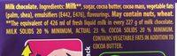 Cadbury 95GM Dairy Milk - Ingrédients