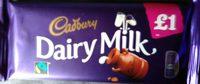 Cadbury dairy milk chocolate bar - Product - en