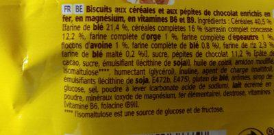 Belvita Le Moelleux - Pépites de Chocolat - Ingredients - fr
