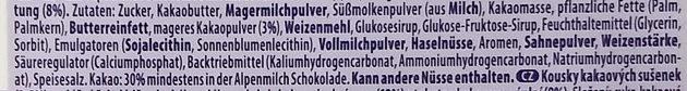 Milka Triple - Ingredients