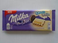 Milka Oreo white - Produit - ro