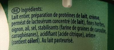 Ail Et Fines Herbes - Ingrédients