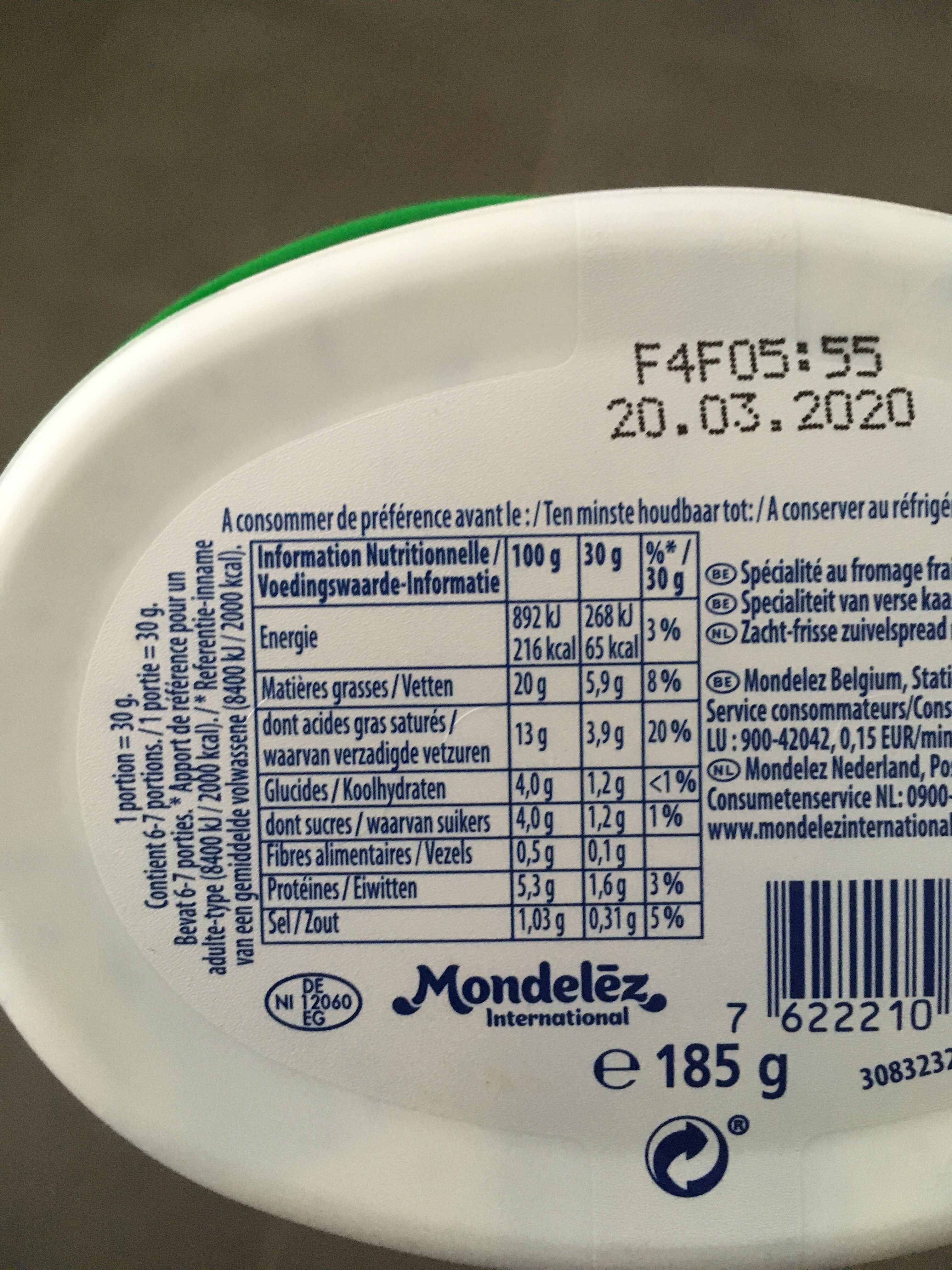 Philadelphia - Valori nutrizionali - nl