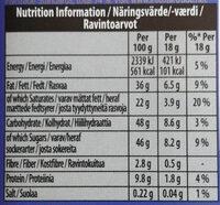 Organic Milk Chocolate - Informations nutritionnelles - en