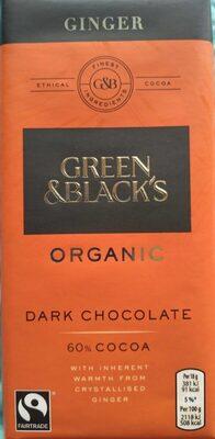 Ginger dark chocolate 60%