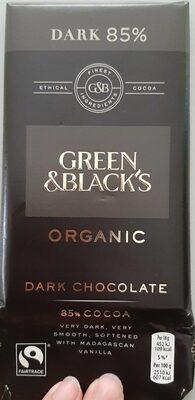 Organic black chocolate - Product