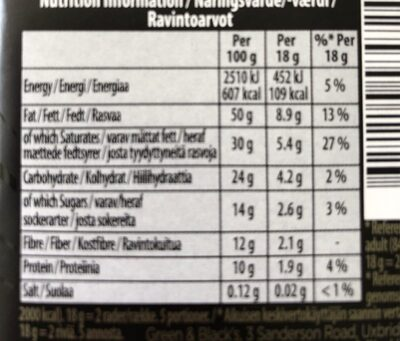 Dark chocolate 85% cocoa - Informations nutritionnelles - fr