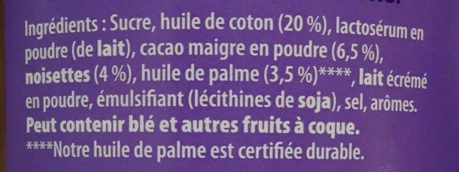 Patamilka aux noisettes Nouvelle recette - Ingrediënten - fr