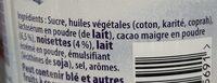 Patamilka aux noisettes - Ingrediënten - fr