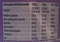 Patamilka - Informations nutritionnelles - fr