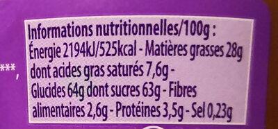 Patamilka - Voedingswaarden - fr