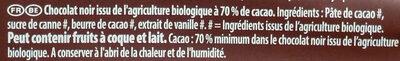 Bio extra noir - Ingrédients - fr