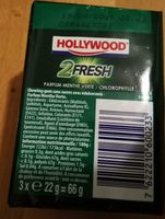 Chewing gums sans sucre menthe verte chlorophylle 2Fresh - Produit