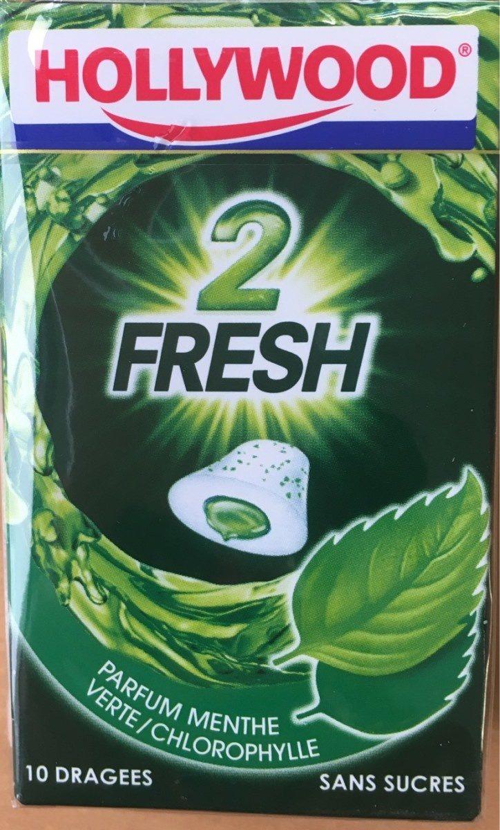 Chewing gums sans sucre menthe verte chlorophylle 2Fresh - Informations nutritionnelles