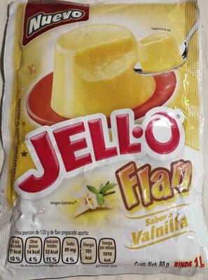 Jello Flan sabor vainilla - Producto - en