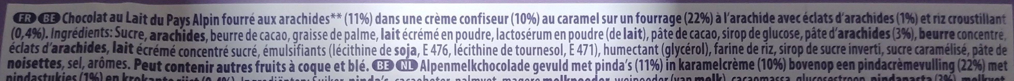 Milka Peanut Caramel - Ingrediënten - fr