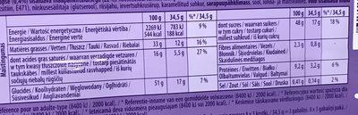 Milka Peanut Caramel - Voedingswaarden - fr