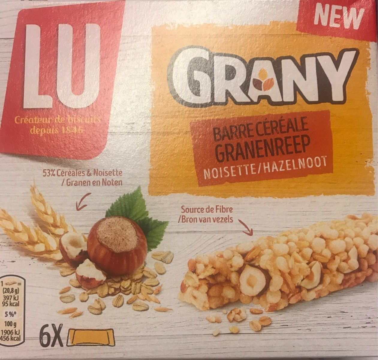 Grany barre cereale noisette - Product